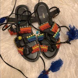 Express gladiator sandals size 6